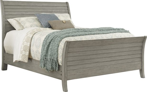 Nantucket Breeze Gray 3 Pc King Sleigh Bed