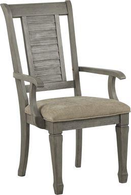 Nantucket Breeze Gray Arm Chair