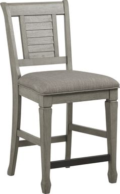 Nantucket Breeze Gray Counter Height Stool