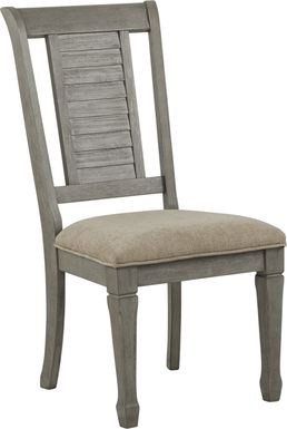 Nantucket Breeze Gray Side Chair