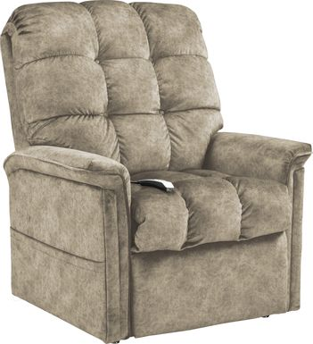 Narin Beige Lift Chair Dual Power Recliner