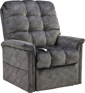 Narin Gray Lift Chair Dual Power Recliner