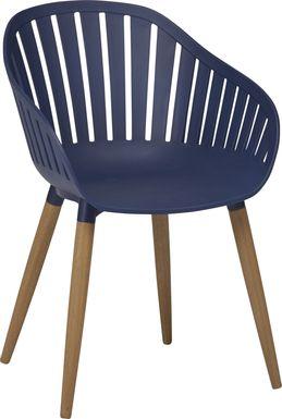 Nassau Blue Outdoor Side Chair