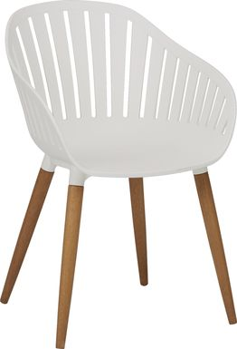 Nassau White Outdoor Side Chair