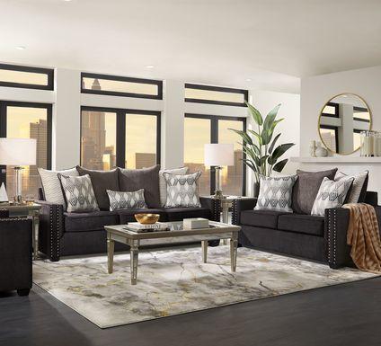 Natalia Black 2 Pc Living Room