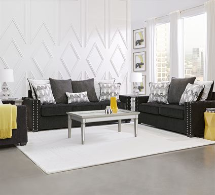 Natalia Black 5 Pc Living Room