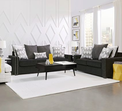 Natalia Black 7 Pc Living Room