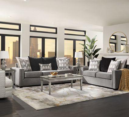 Natalia Gray 2 Pc Living Room