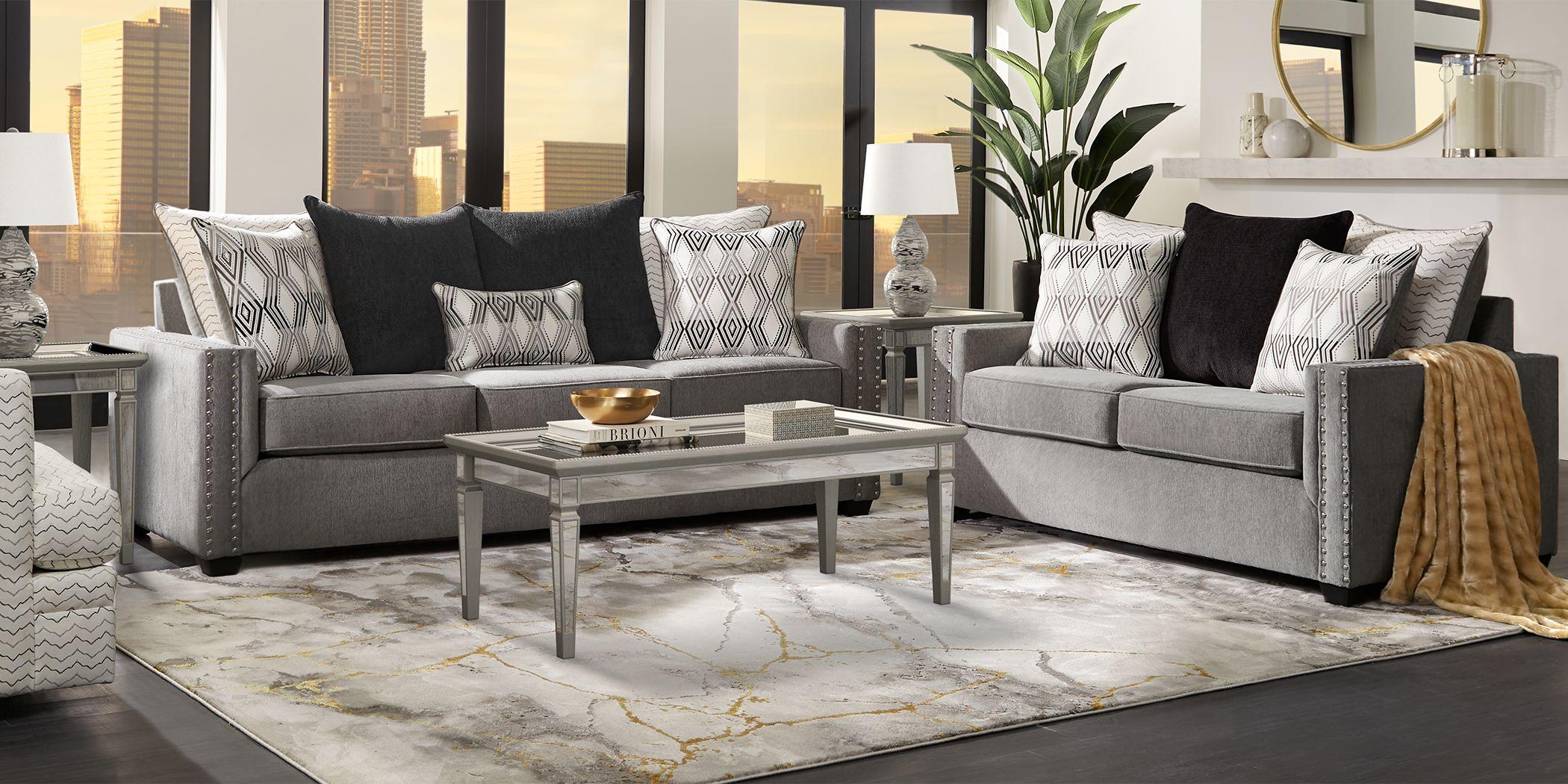 Natalia Gray 7 Pc Living Room
