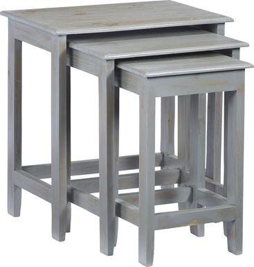 Nauman Gray Nesting Tables, Set of 3