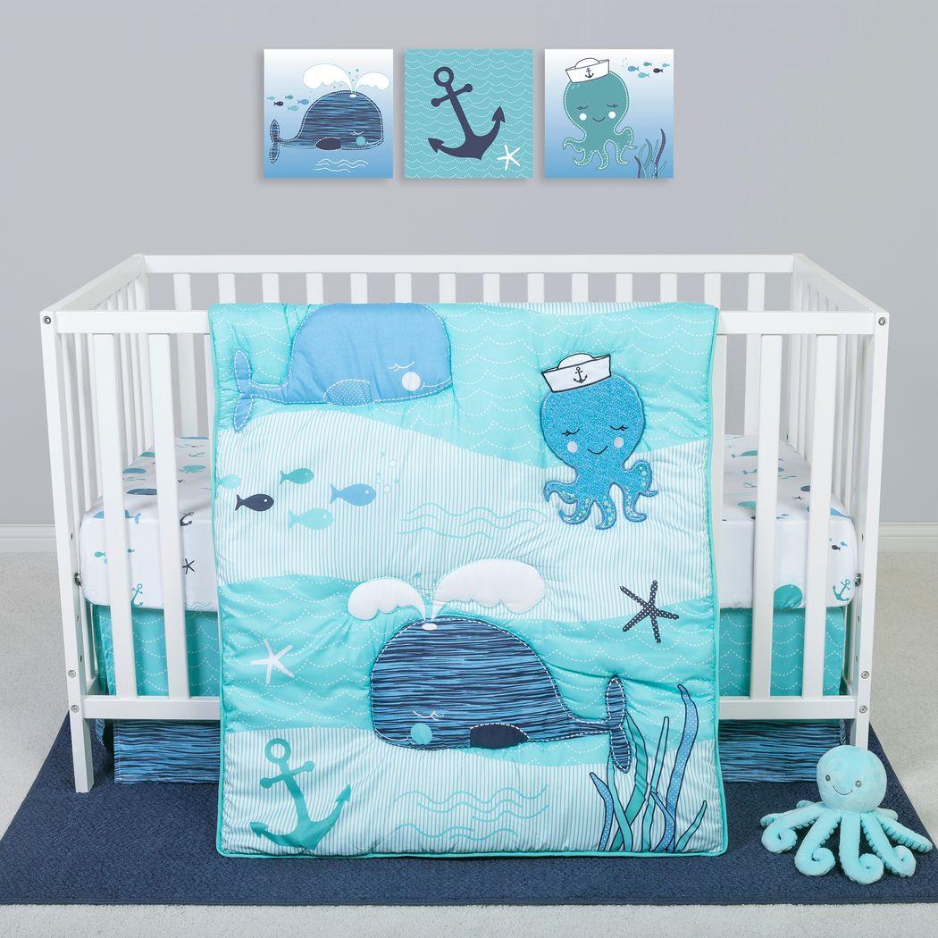 Nautical Adventure Blue 4 Pc Baby Bedding Set