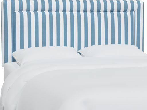 Nautical Blues Blue Full Upholstered Headboard