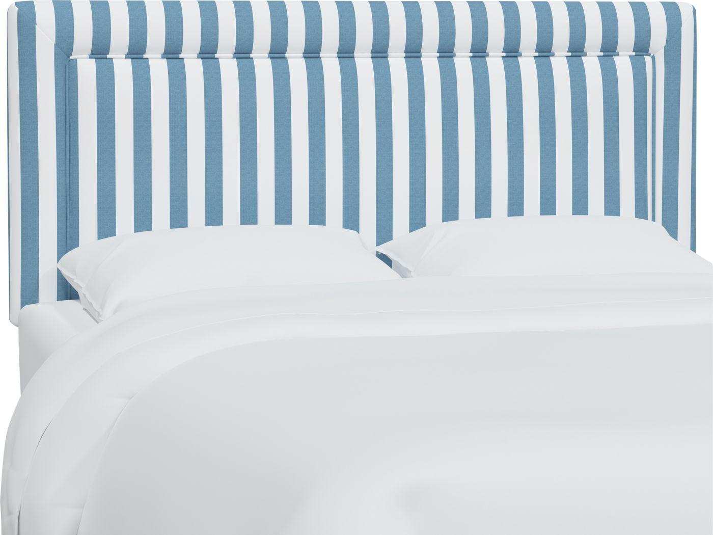 Nautical Blues Blue King Upholstered Headboard