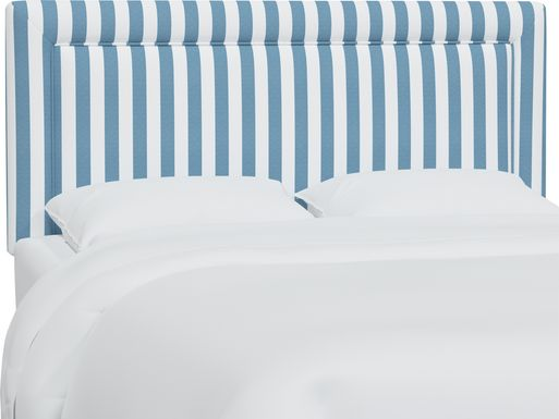 Nautical Blues Blue Twin Upholstered Headboard