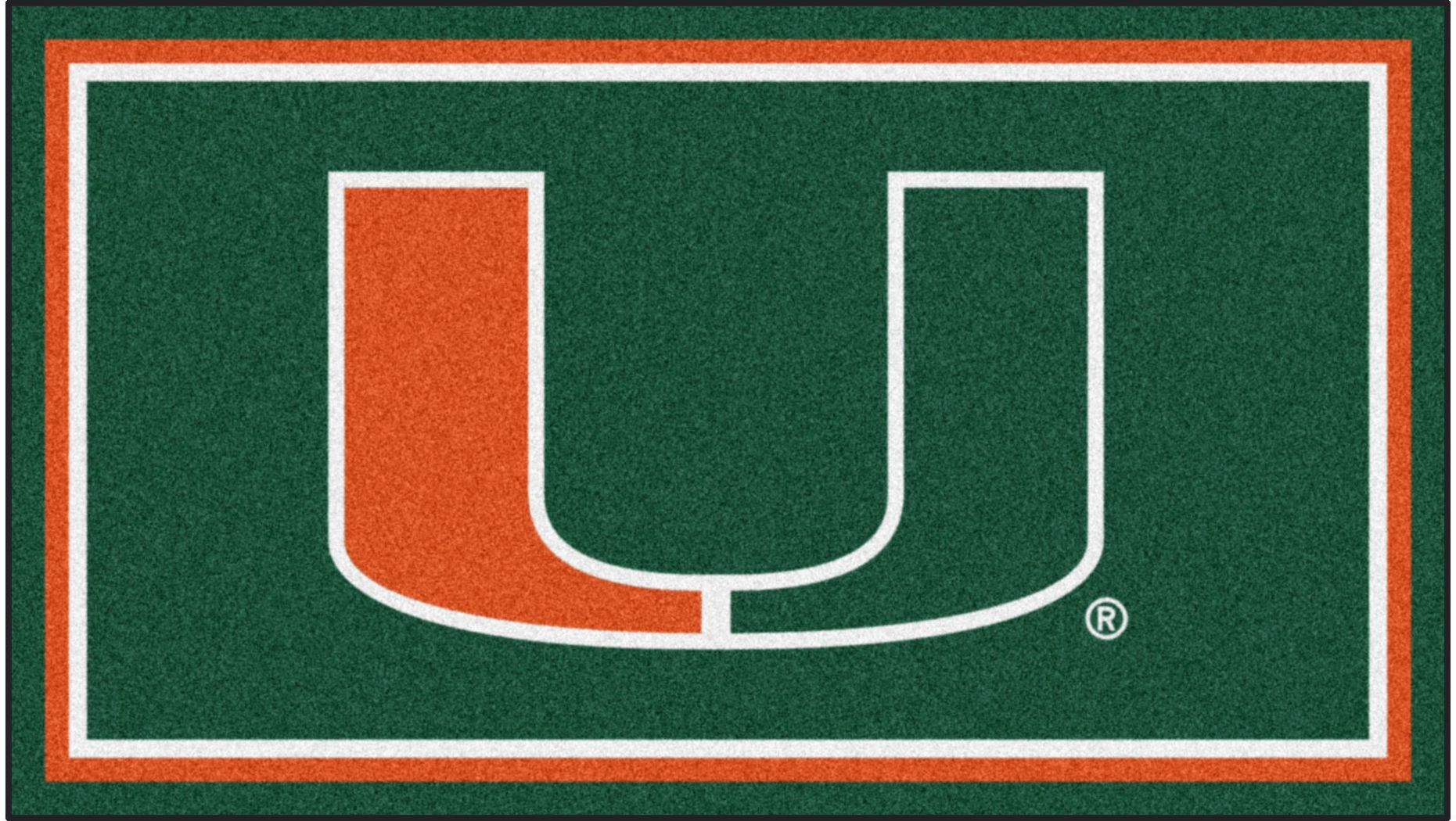 NCAA Big Game University of Miami 3' x 5' Rug