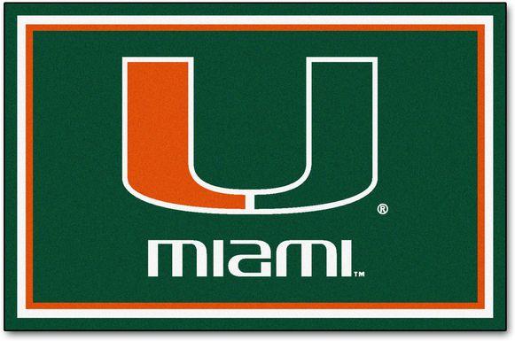 NCAA Big Game University of Miami 5' x 8' Rug