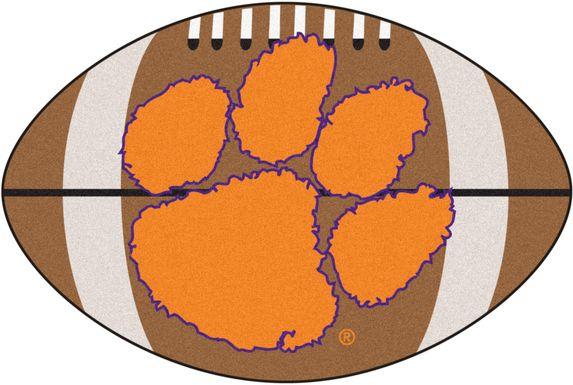 "NCAA Football Mascot Clemson University 1'6"" x 1'10"" Rug"