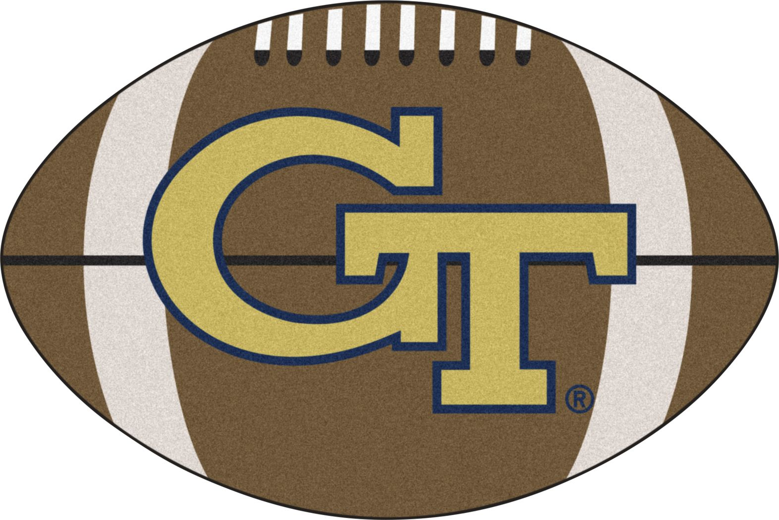 "NCAA Football Mascot Georgia Tech 1'6"" x 1'10"" Rug"