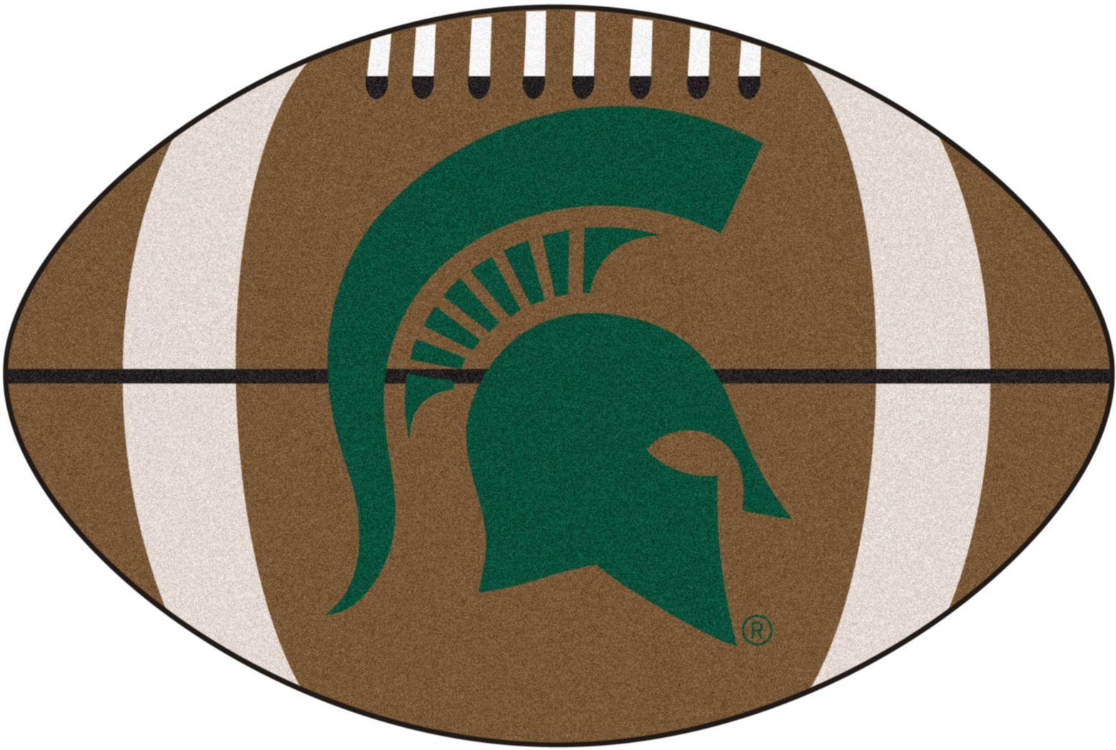 "NCAA Football Mascot Michigan State University 1'6"" x 1'10"" Rug"