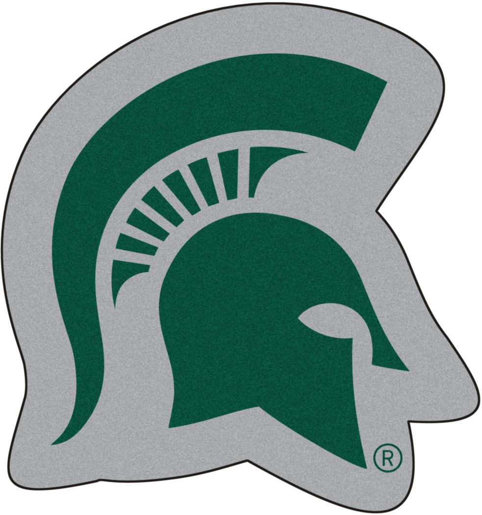 "NCAA Football Mascot Michigan State University 1'6"" x 2' Rug"