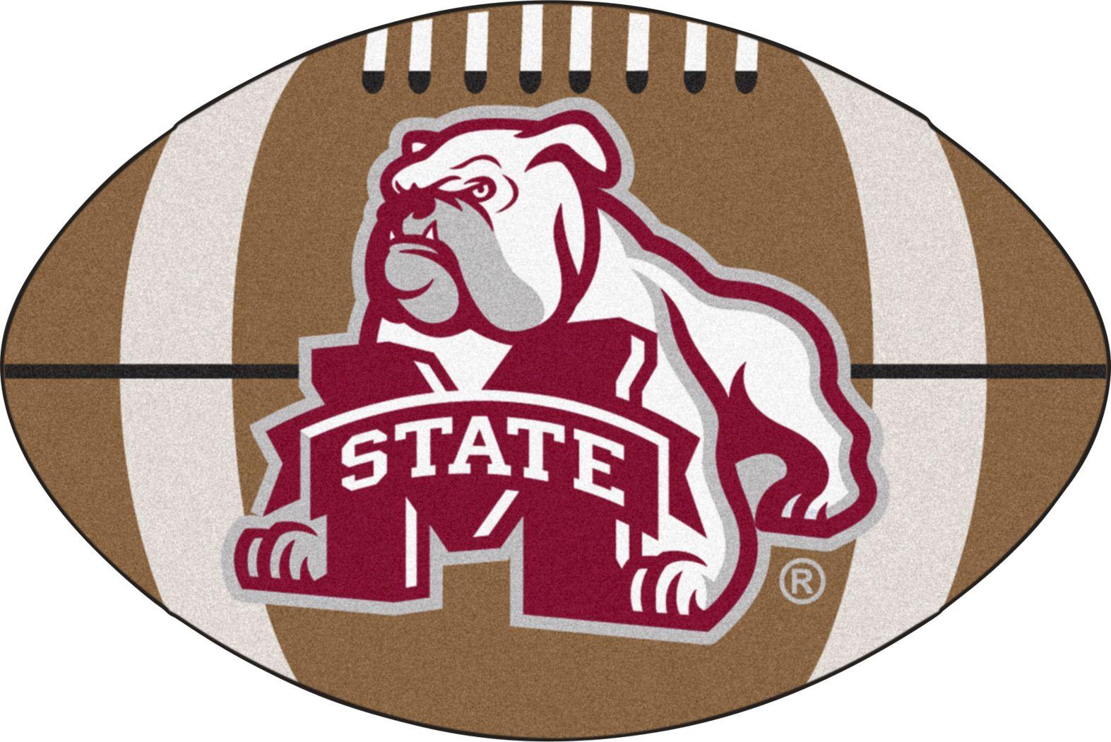 "NCAA Football Mascot Mississippi State University 1'6""x 1'10"" Rug"