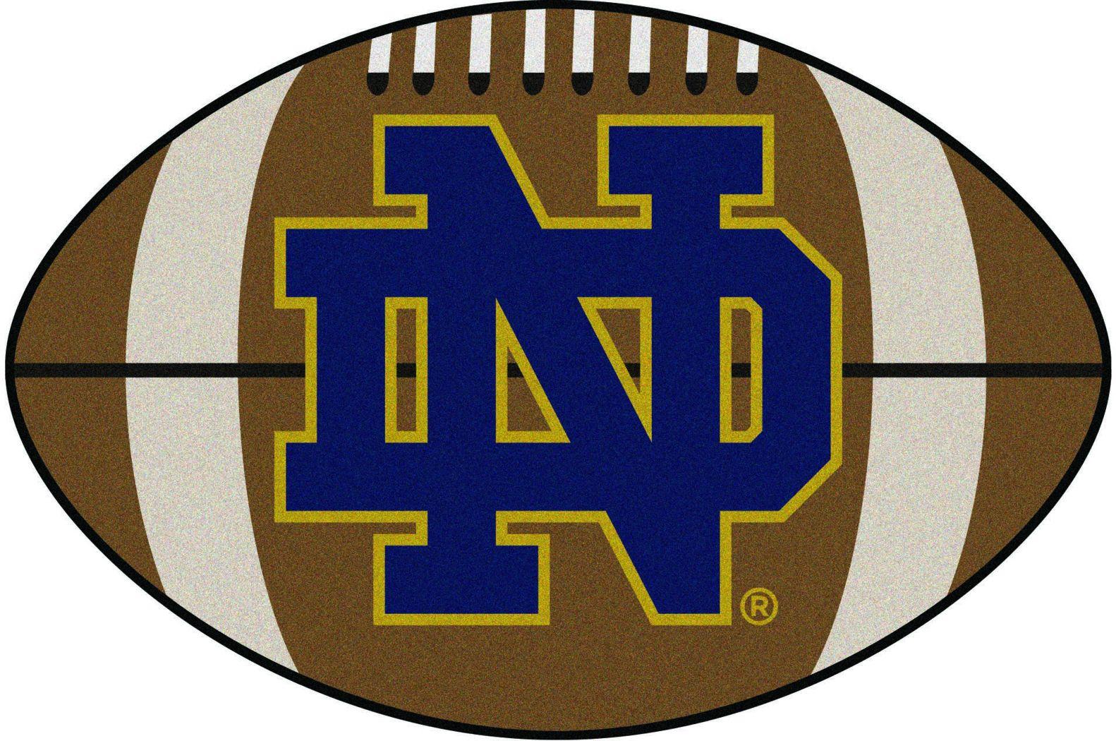 "NCAA Football Mascot Notre Dame 1'6"" x 1'10"" Rug"