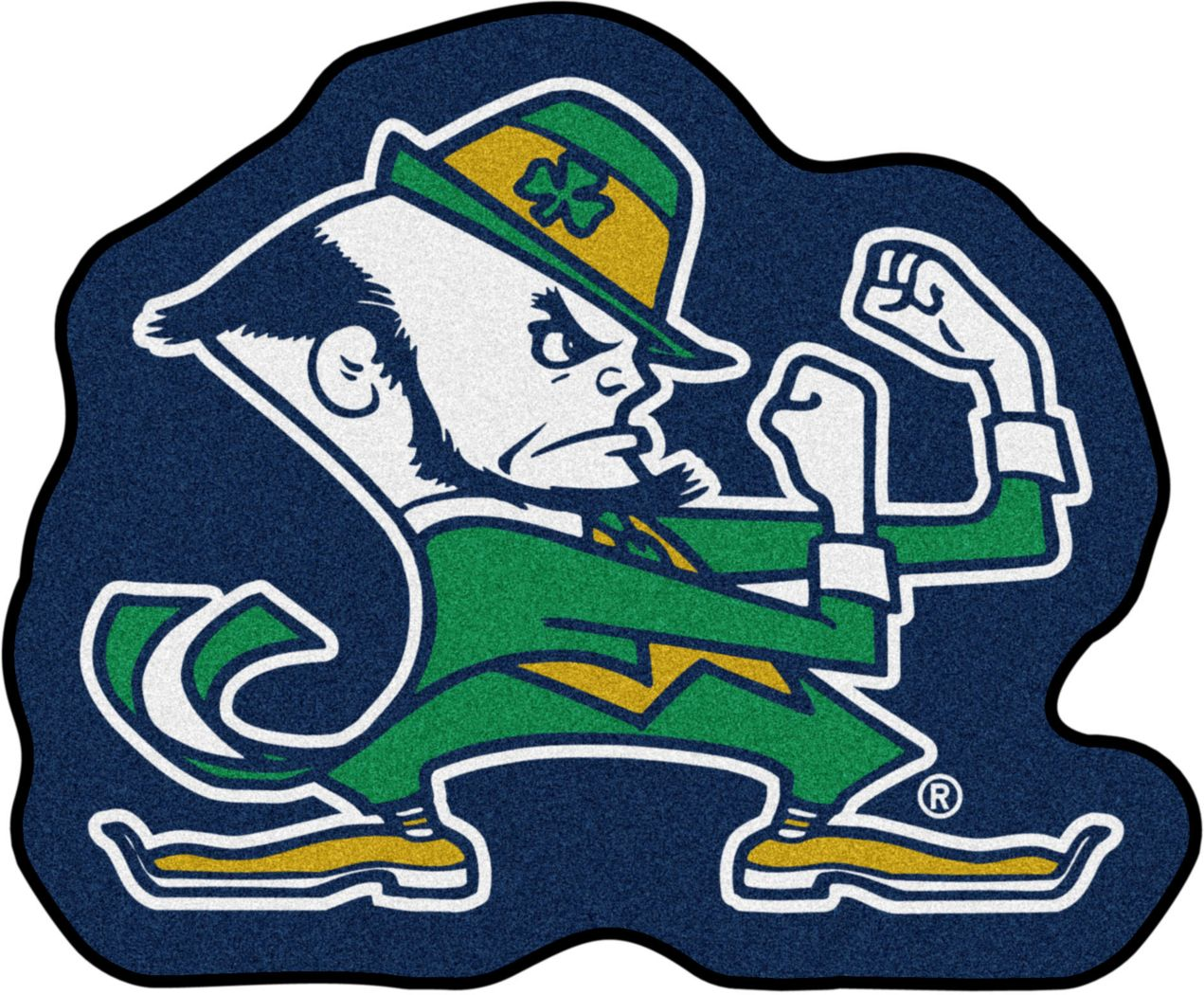 "NCAA Football Mascot Notre Dame 1'6"" x 2' Rug"