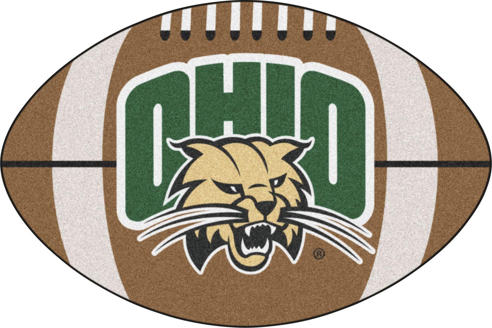 "NCAA Football Mascot Ohio University 1'6"" x 1'10"" Rug"