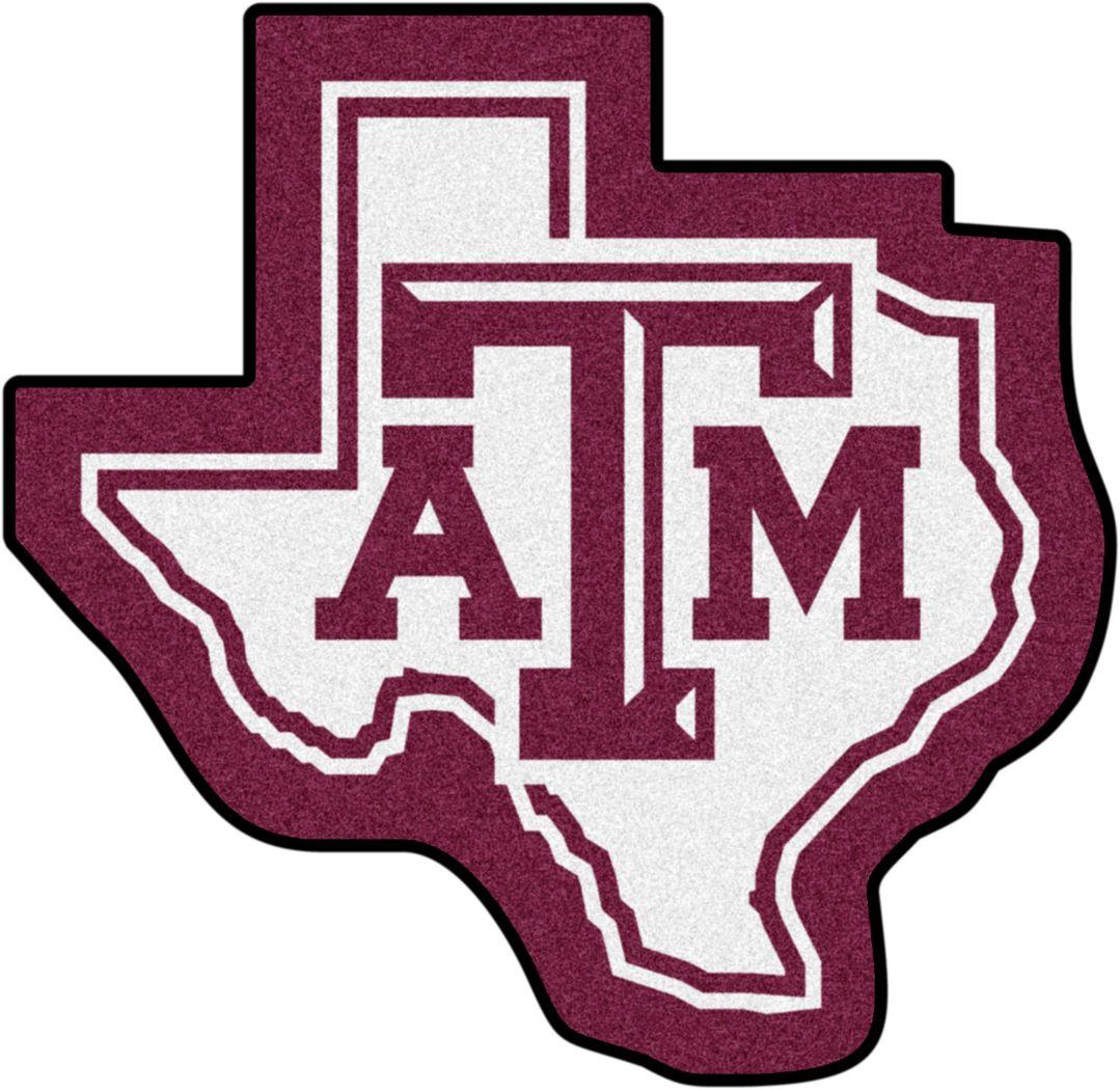 "NCAA Football Mascot Texas A&M University 1'6"" x 2"" Rug"