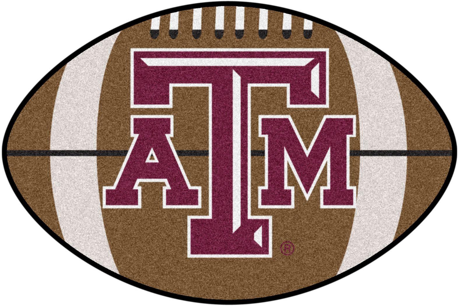 "NCAA Football Mascot Texas A&M University 1'6""x 1'10"" Rug"