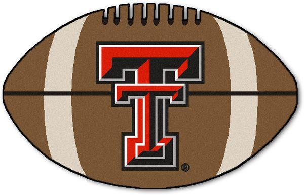"NCAA Football Mascot Texas Tech University 1'6"" x 1'10"" Rug"