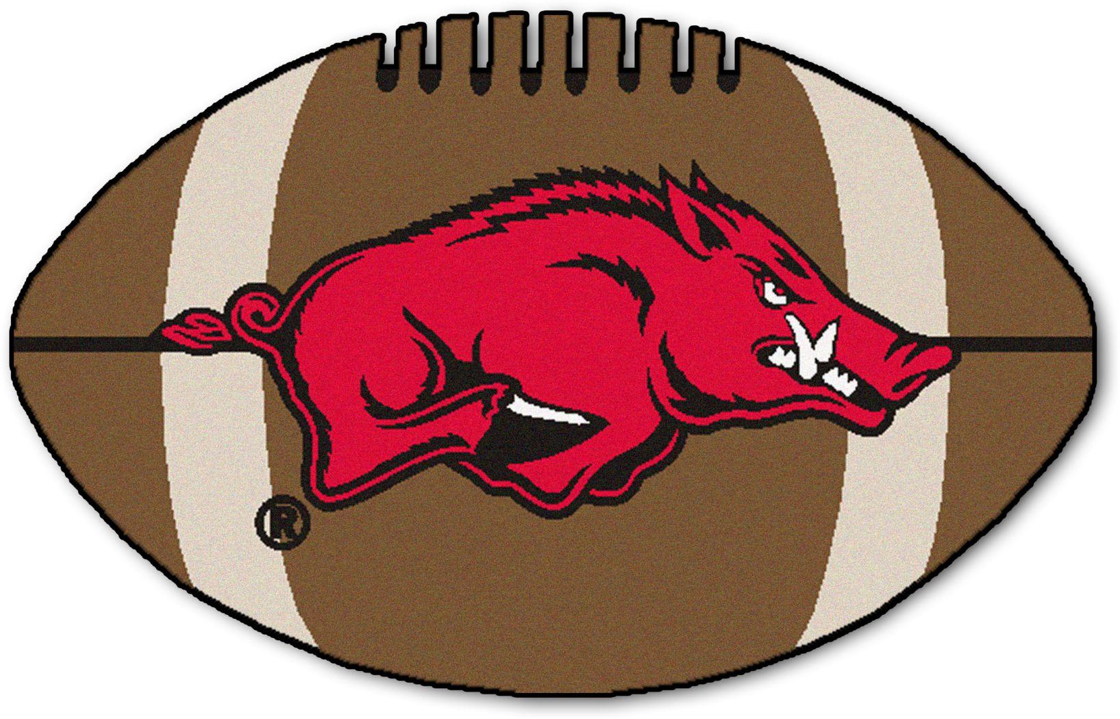 "NCAA Football Mascot University of Arkansas 1'6"" x 1'10"" Rug"