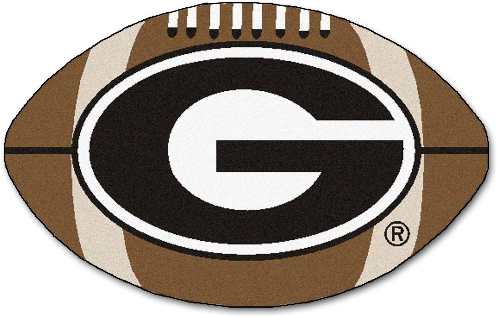 NCAA Football Mascot University of Georgia 1'6 x 1'10 Rug