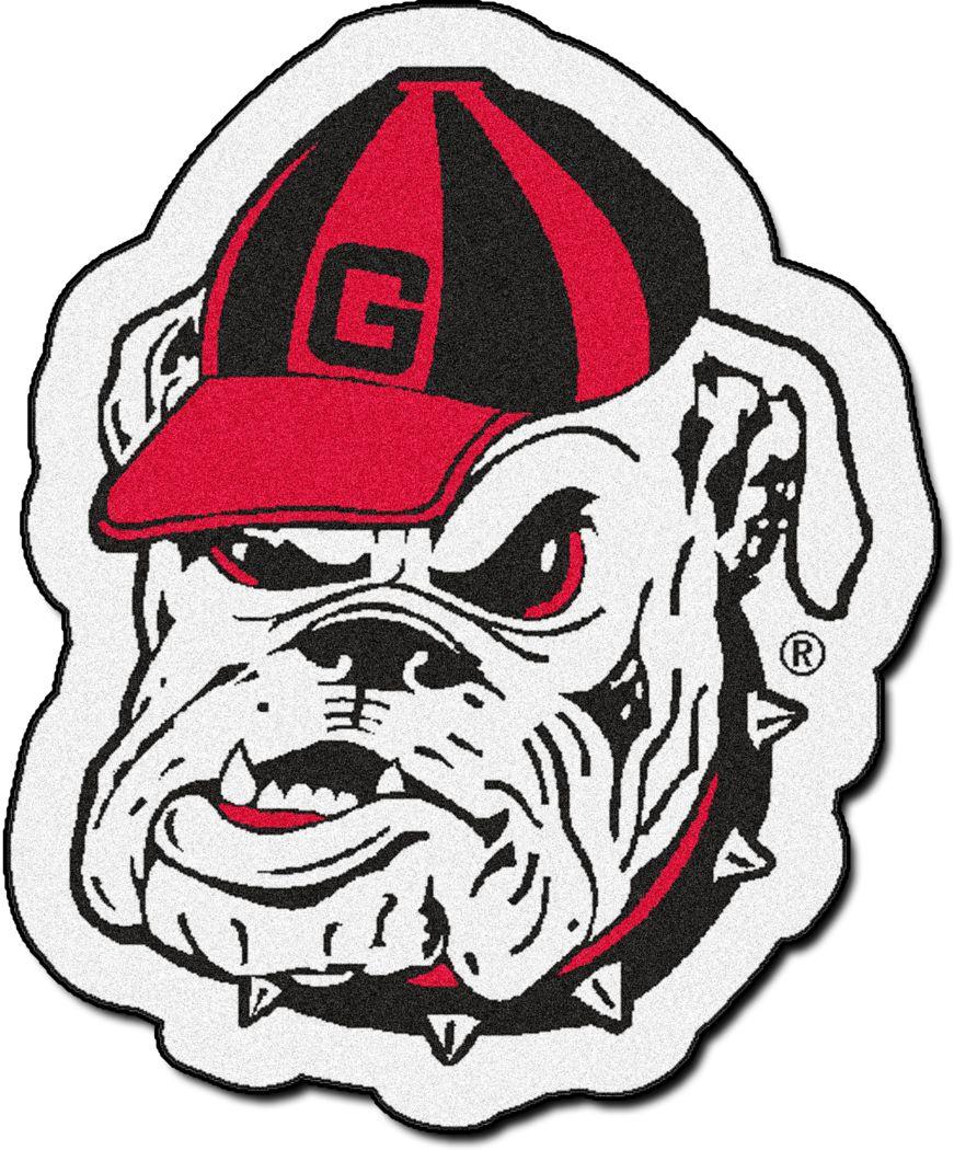 NCAA Football Mascot University of Georgia 1'6 x 2' Rug