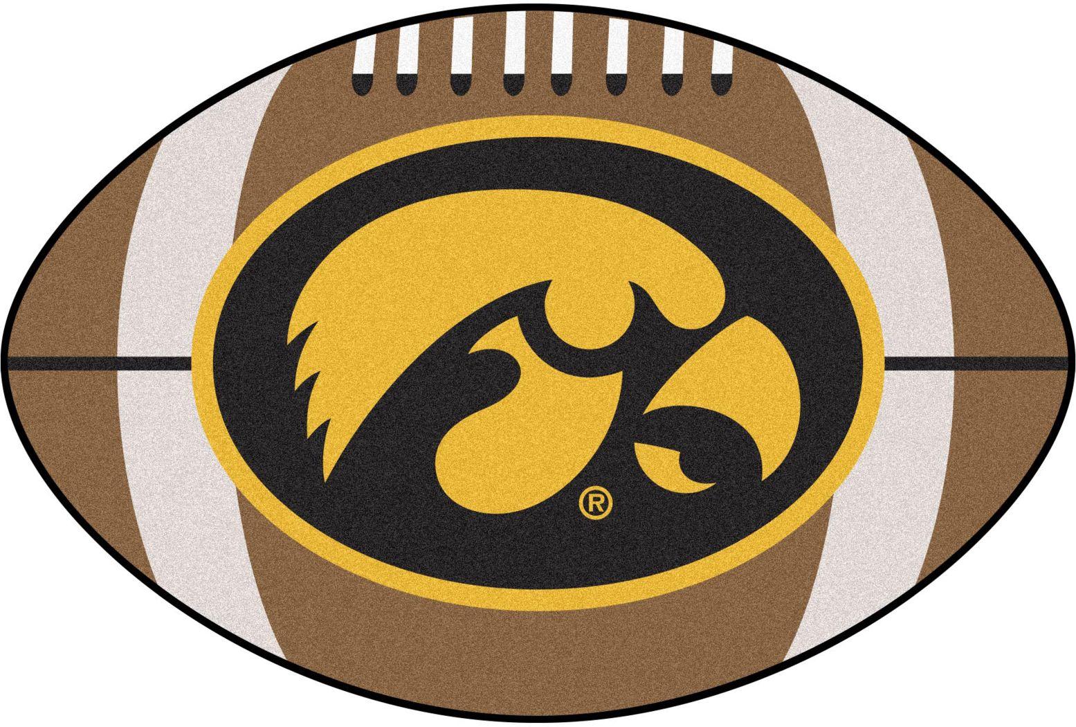 "NCAA Football Mascot University of Iowa 1'6"" x 1'10"" Rug"