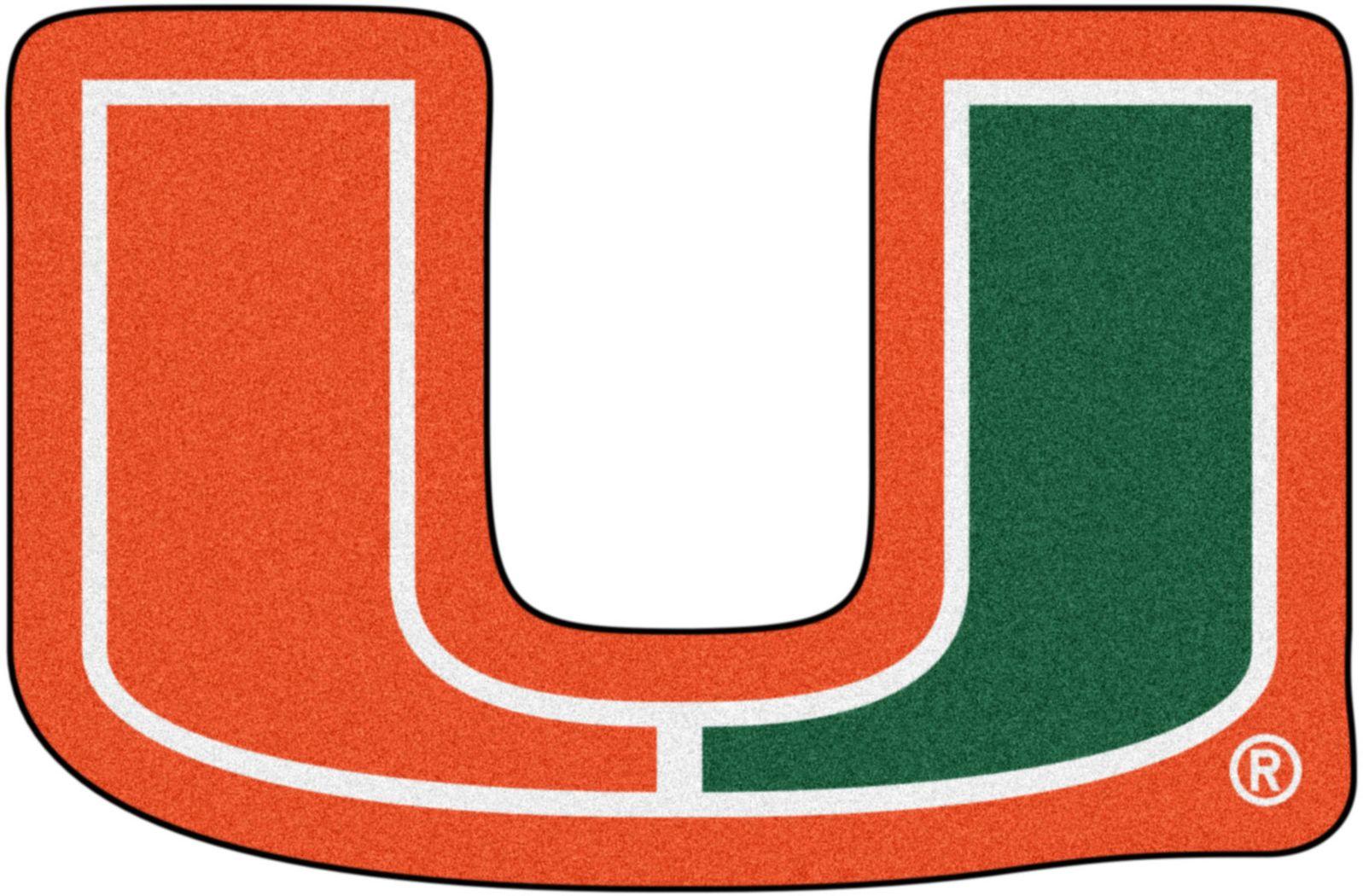 "NCAA Football Mascot University of Miami 1'6"" x 2' Rug"