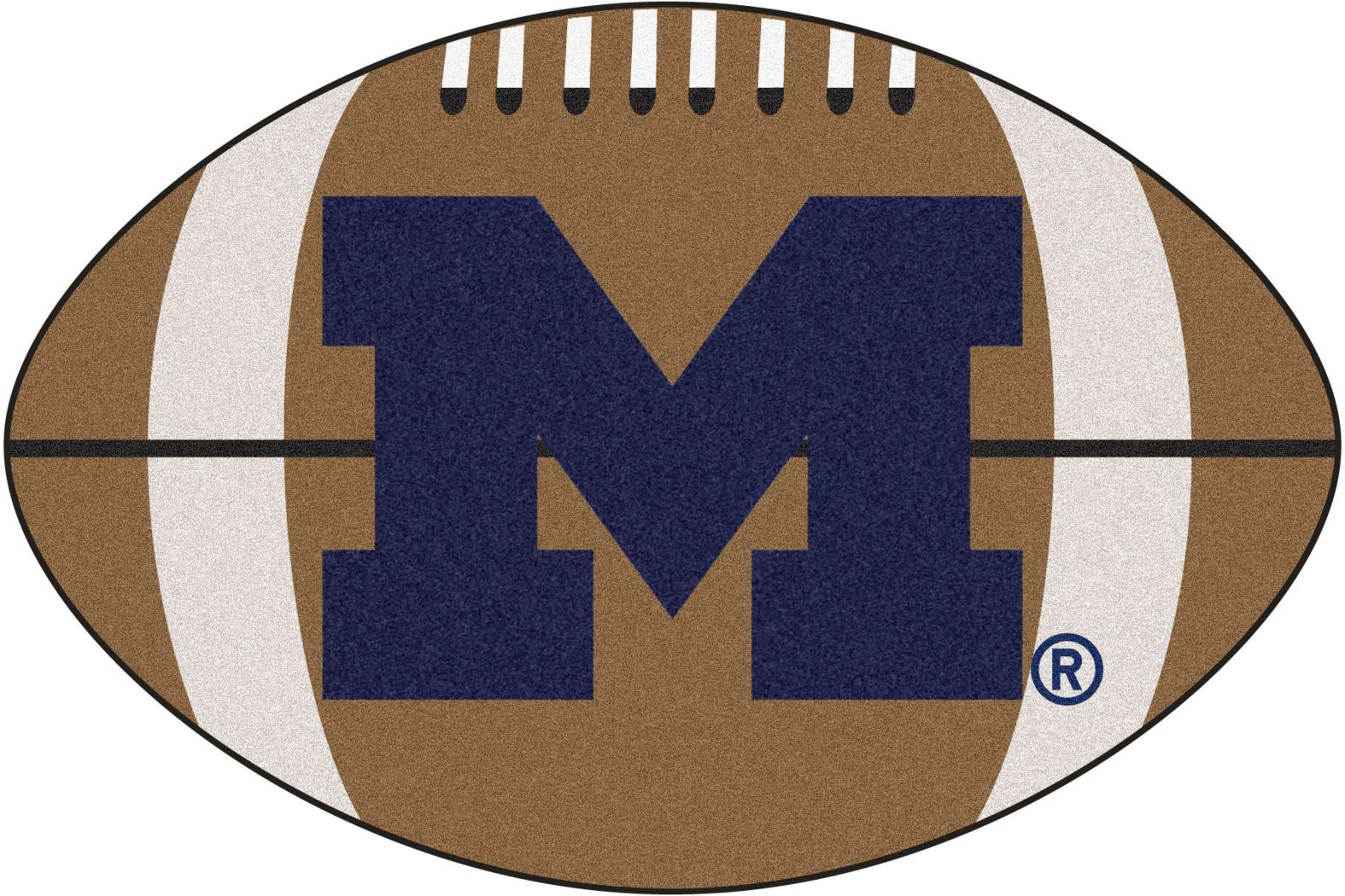 "NCAA Football Mascot University of Michigan 1'6"" x 1'10"" Rug"