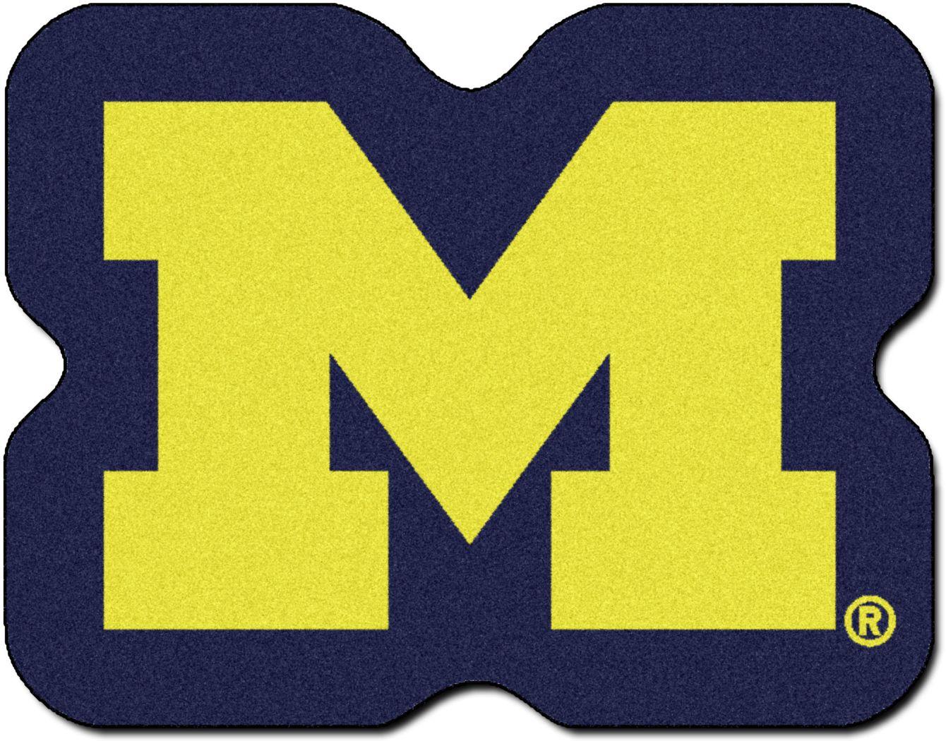 "NCAA Football Mascot University of Michigan 1'6"" x 2' Rug"