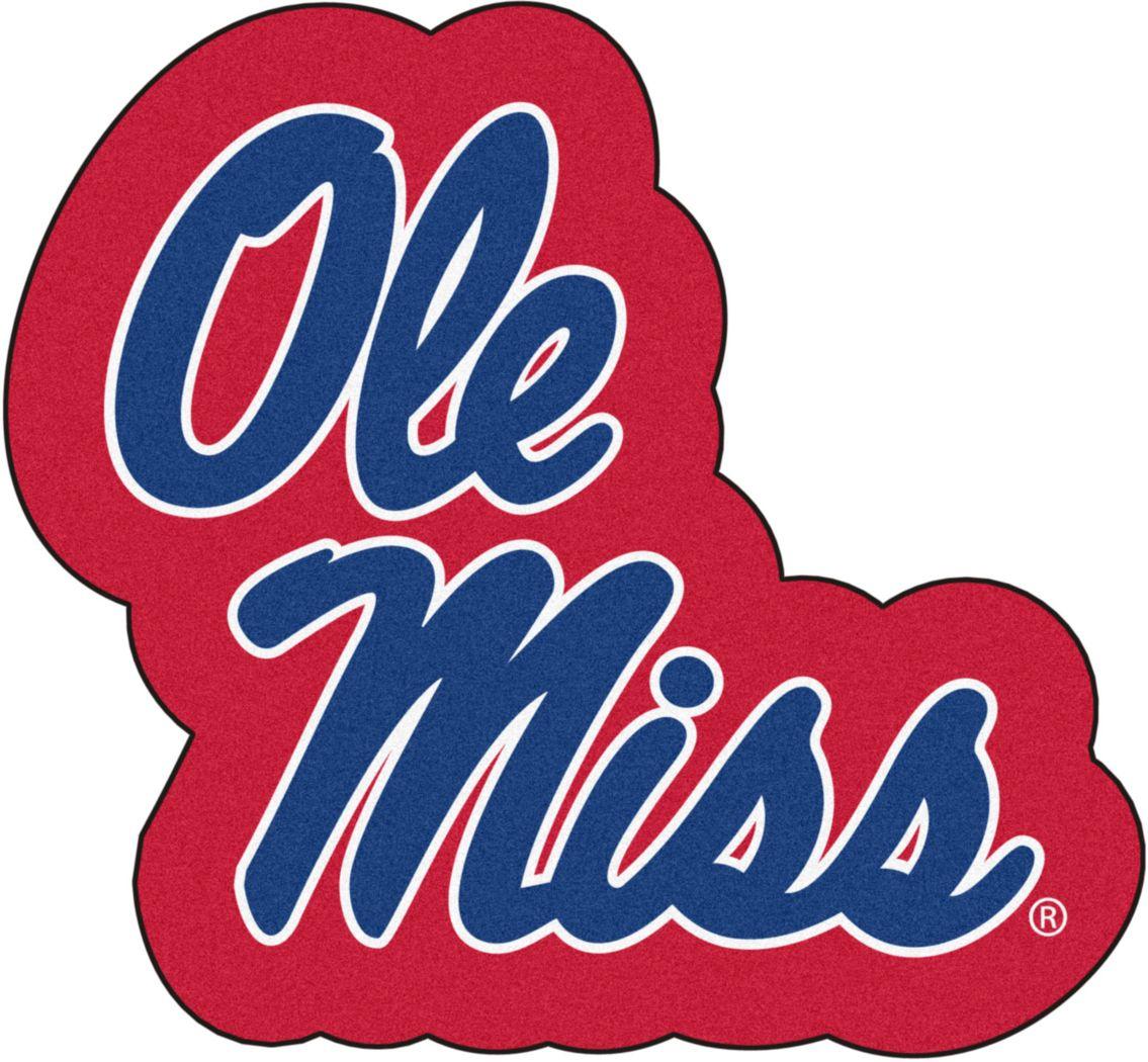 "NCAA Football Mascot University of Mississippi 1'6"" x 2"" Rug"