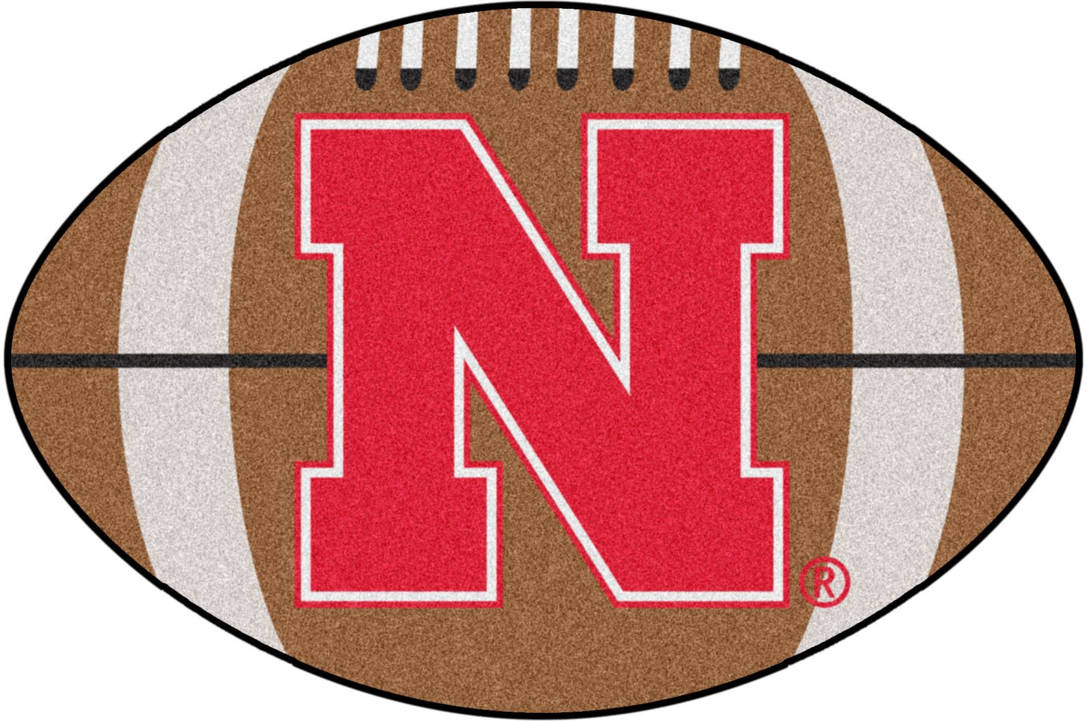 "NCAA Football Mascot University of Nebraska 1'6"" x 1'10"" Rug"