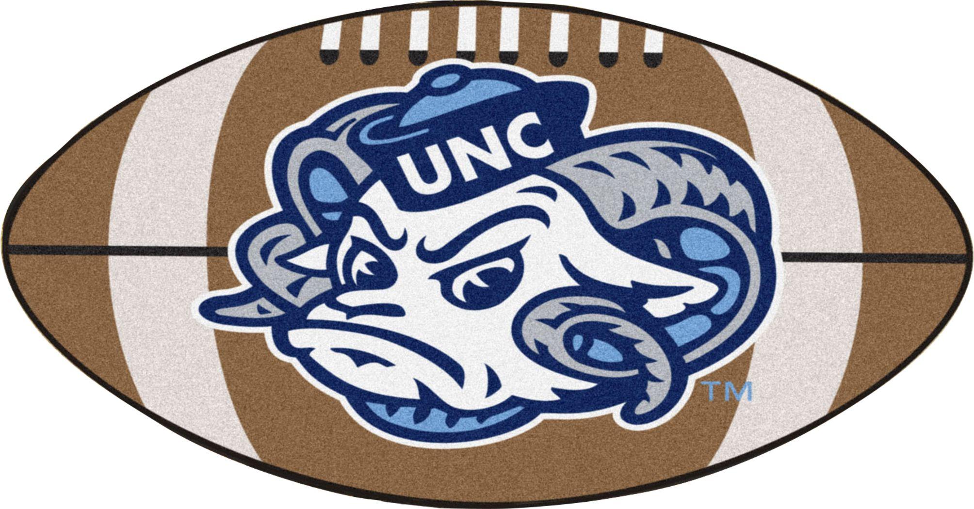 "NCAA Football Mascot University of North Carolina 1'6"" x 1'10"" Rug"