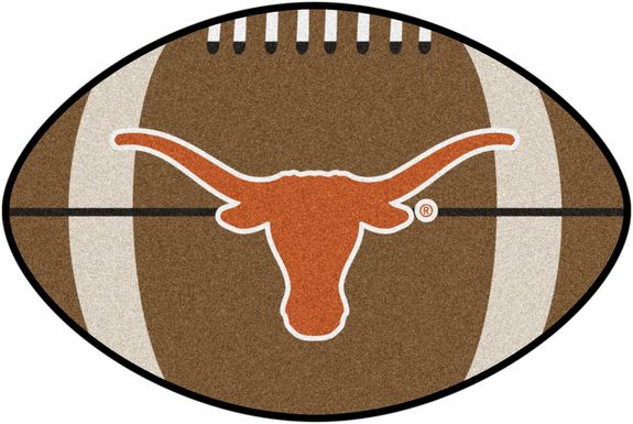 "NCAA Football Mascot University of Texas 1'6"" x 1'10"" Rug"