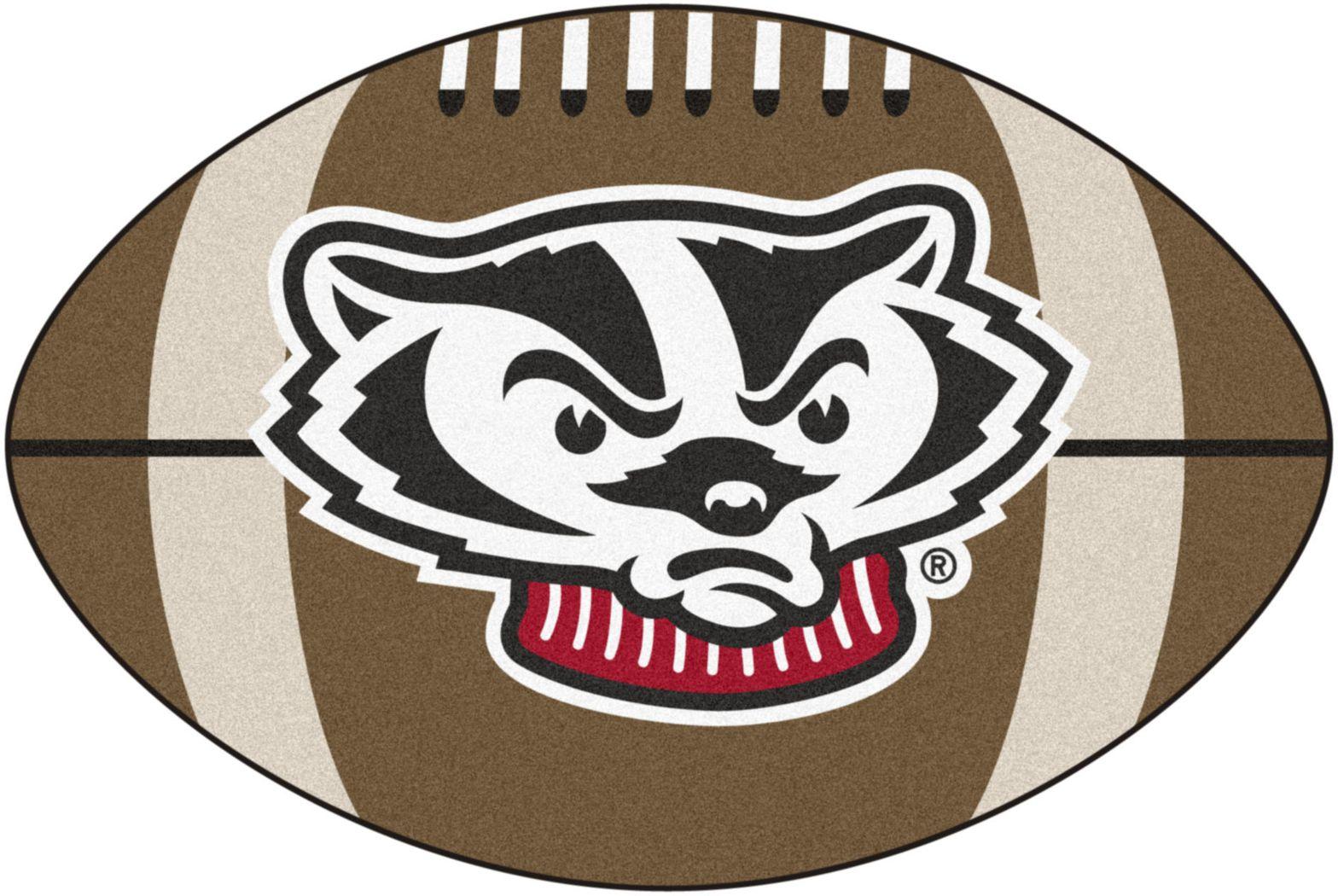 "NCAA Football Mascot University of Wisconsin 1'6"" x 1'10"" Rug"