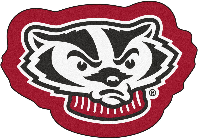 "NCAA Football Mascot University of Wisconsin 1'6"" x 2"" Rug"