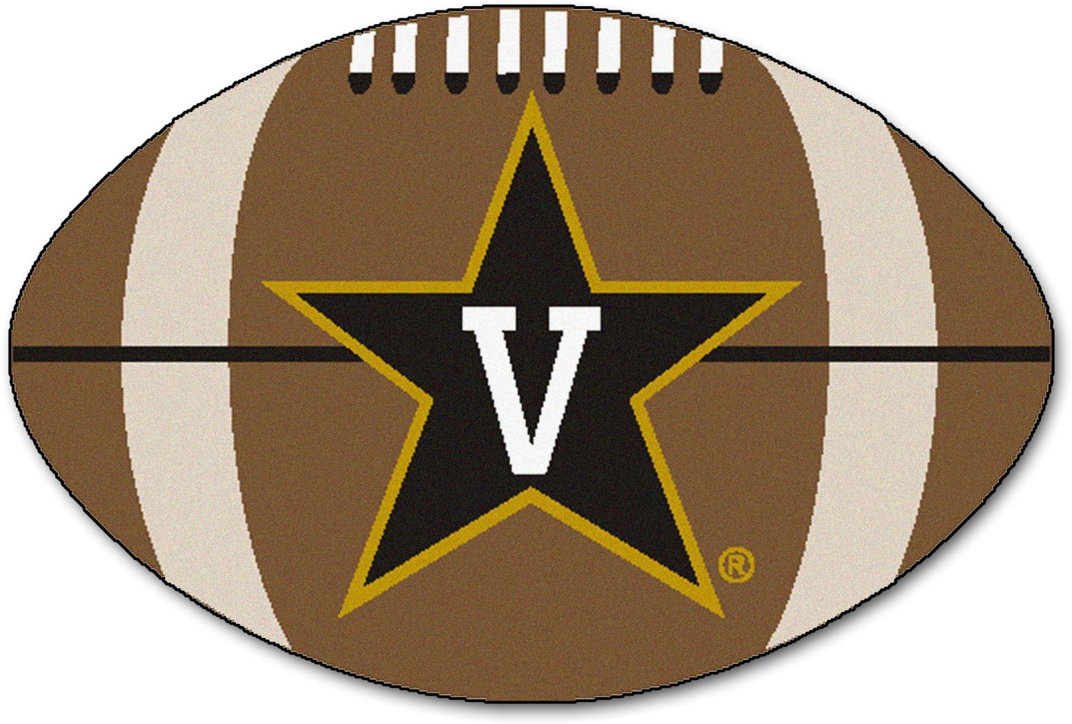 "NCAA Football Mascot Vanderbilt University 1'6"" x 1'10"" Rug"