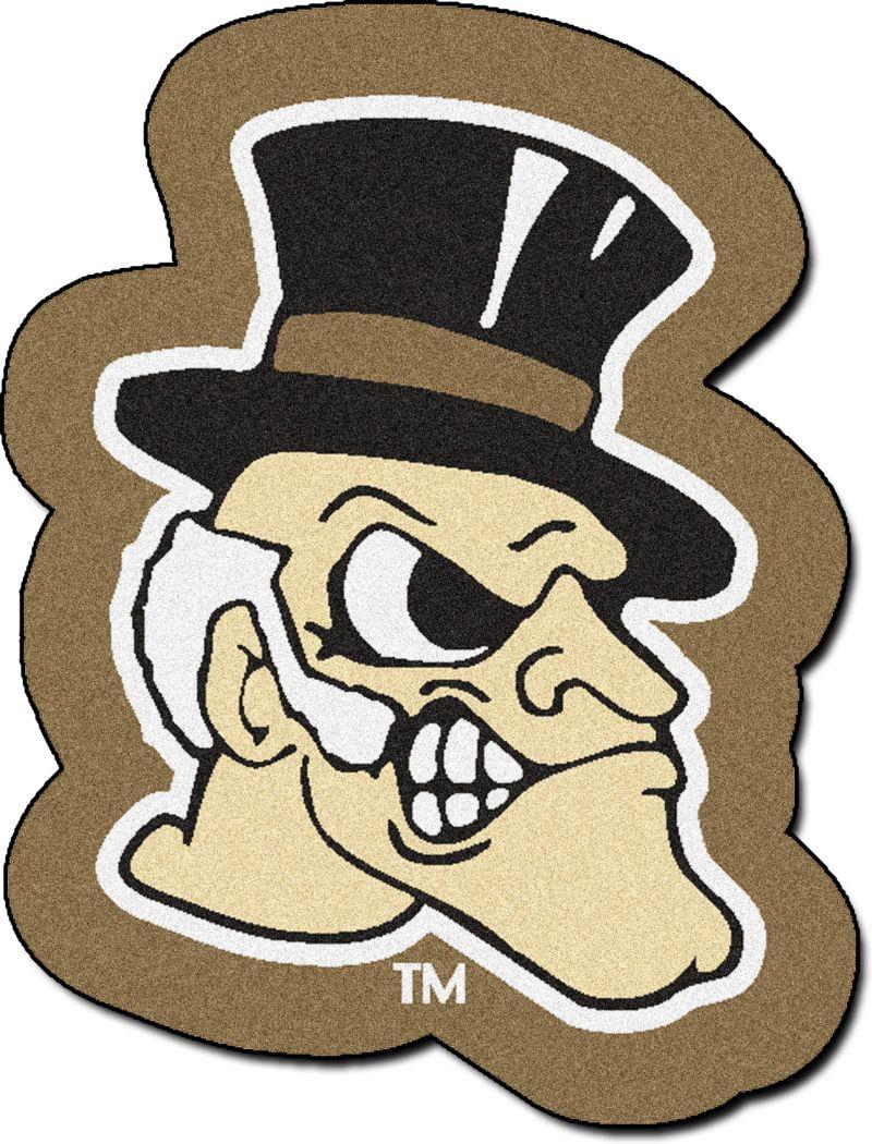 "NCAA Football Mascot Wake Forest University 1'6"" x 2' Rug"