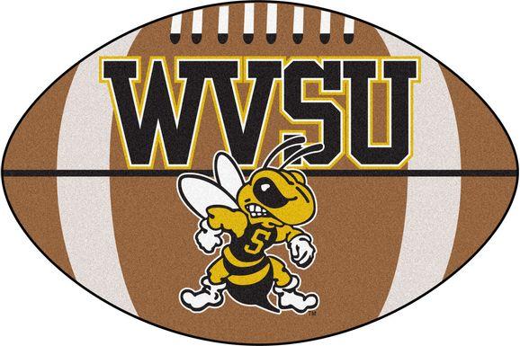 "NCAA Football Mascot West Virginia State University 1'6"" x 1'10"" Rug"