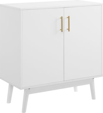 Nedwald White Accent Cabinet
