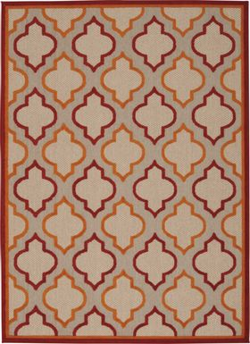 Nelinda Red 8' x 11' Indoor/Outdoor Rug