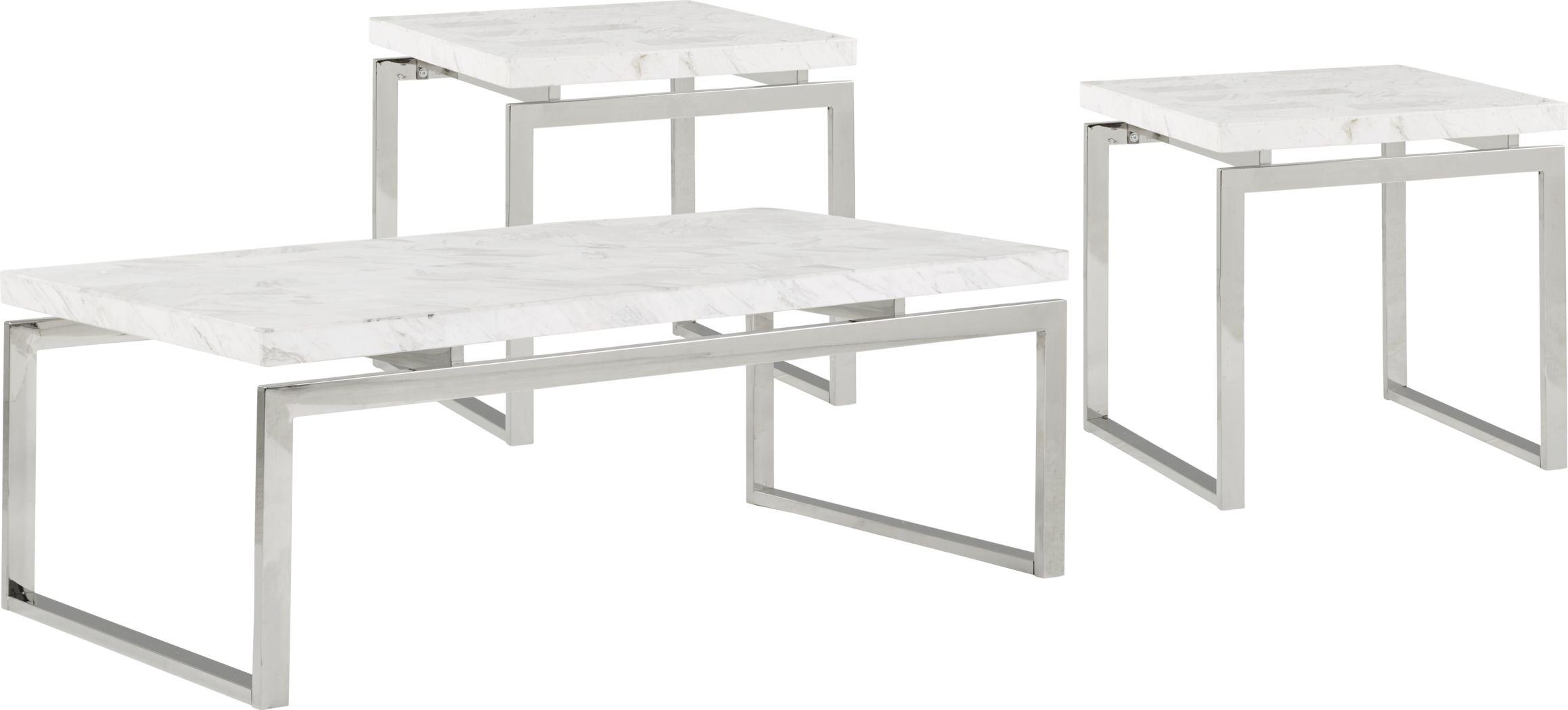 Nerissa Metal 3 Pc Table Set